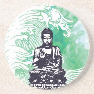 Typhoon Buddha Wave Emerald Smoke Coaster