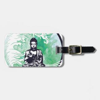 Typhoon Buddha Wave Emerald Smoke Luggage Tag