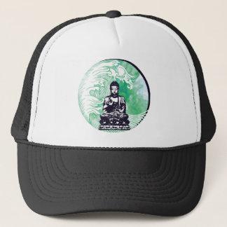 Typhoon Buddha Wave Emerald Smoke Trucker Hat