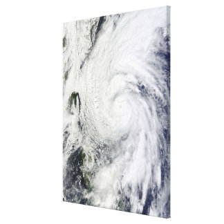 Typhoon Chaba in the Philippine Sea Canvas Print