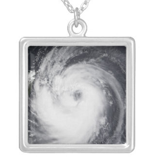 Typhoon Chaba in the western Pacific Ocean Silver Plated Necklace