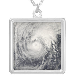 Typhoon Dolphin in the Philippine Sea Silver Plated Necklace