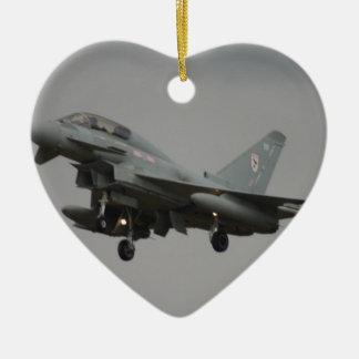 Typhoon Euro fighter Ceramic Heart Decoration