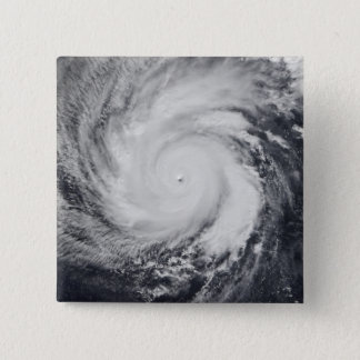Typhoon Faxai in the western Pacific Ocean 15 Cm Square Badge