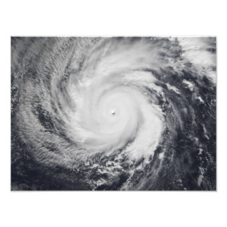 Typhoon Faxai in the western Pacific Ocean Photo Print