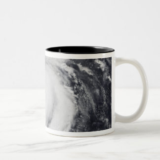 Typhoon Faxai in the western Pacific Ocean Two-Tone Coffee Mug