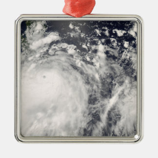 Typhoon Fengshen over the Philippines Silver-Colored Square Decoration