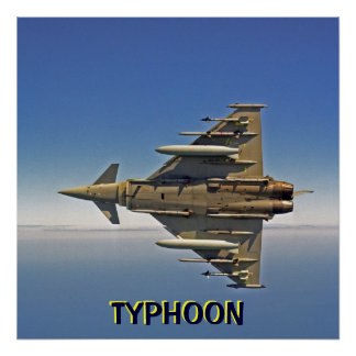 TYPHOON fighter jet Poster