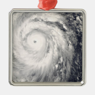 Typhoon Jangmi off Taiwan and the Philippines Silver-Colored Square Decoration