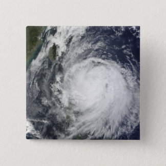Typhoon Lupit off the Philippines 15 Cm Square Badge