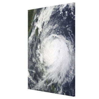 Typhoon Lupit off the Philippines Canvas Print