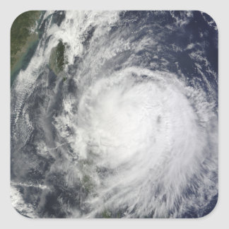 Typhoon Lupit off the Philippines Square Sticker