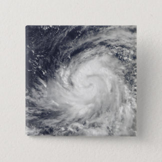 Typhoon Lupit over the western Pacific Ocean 15 Cm Square Badge