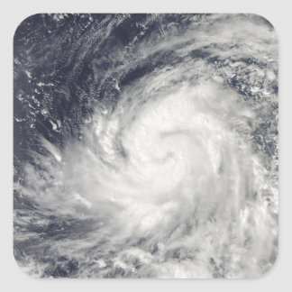 Typhoon Lupit over the western Pacific Ocean Square Sticker