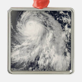 Typhoon Nakri off Japan Silver-Colored Square Decoration