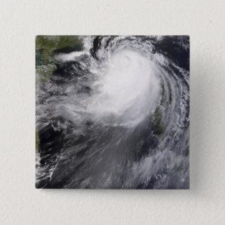 Typhoon Nuri approaching China 15 Cm Square Badge