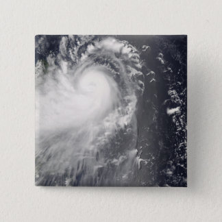 Typhoon Nuri approaching the Philippine Islands 15 Cm Square Badge