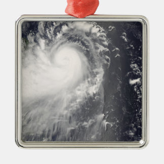 Typhoon Nuri approaching the Philippine Islands Silver-Colored Square Decoration