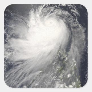 Typhoon Nuri over the Philippine Islands Square Sticker