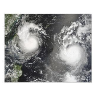 Typhoon Saomai and Tropical Storm Bopha Art Photo