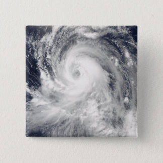 Typhoon Tingting over the Northern Mariana Isla 15 Cm Square Badge