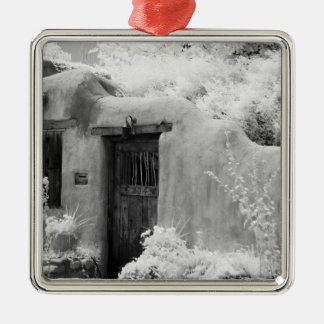 Typical adobe door and entryway in Santa Fe, New Christmas Ornament