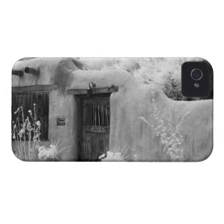 Typical adobe door and entryway in Santa Fe, New iPhone 4 Case-Mate Cases