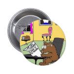 Typical Beaver Last Will & Testament 6 Cm Round Badge