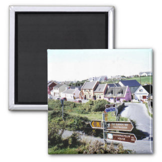 Typical Irish village Square Magnet