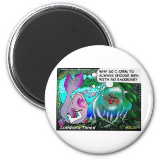Typical Jellyfish Relationships Funny Gifts & Tees 6 Cm Round Magnet