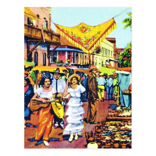Typical of Early Los Angeles - Olvera Street Postcard