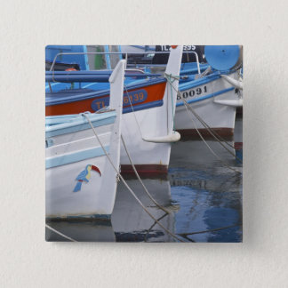 Typical Provencal fishing boats painted in 2 15 Cm Square Badge