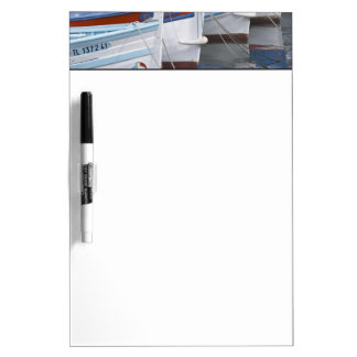 Typical Provencal fishing boats painted in 2 Dry Erase White Board