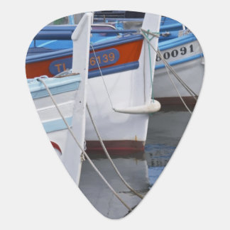 Typical Provencal fishing boats painted in 2 Guitar Pick