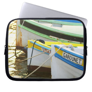 Typical Provencal fishing boats painted in Laptop Sleeve