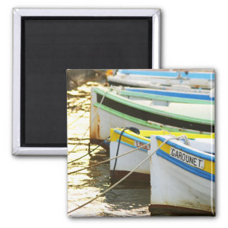Typical Provencal fishing boats painted in Fridge Magnet