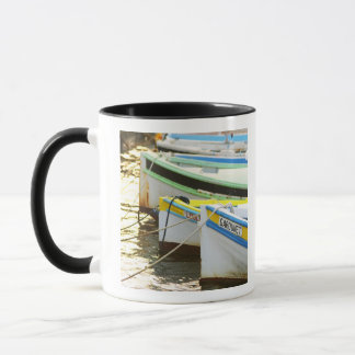 Typical Provencal fishing boats painted in Mug