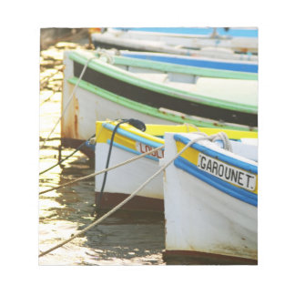 Typical Provencal fishing boats painted in Notepad