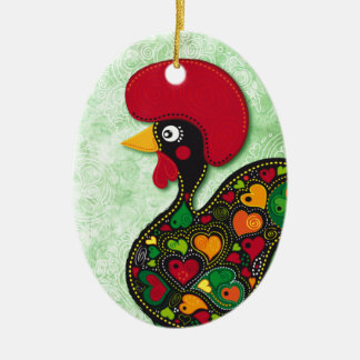 Typical Rooster of Barcelos Christmas Ornament