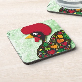 Typical Rooster of Barcelos Coaster