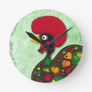 Typical Rooster of Barcelos Wallclocks