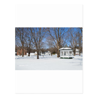 Typical Vermont Town In Winter Postcard