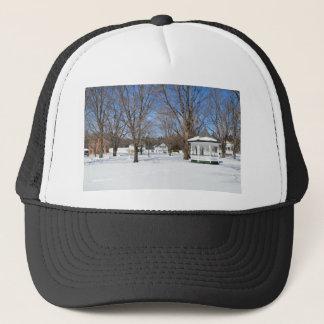 Typical Vermont Town In Winter Trucker Hat