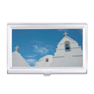 Typical whitewashed church business card holder