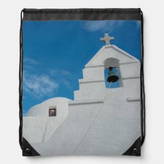 Typical whitewashed church drawstring bag