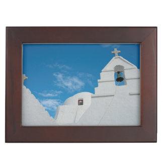 Typical whitewashed church memory box