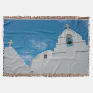 Typical whitewashed church throw blanket