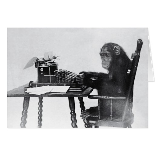 Typing Monkey Cards