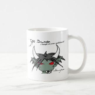 Typo Demon Mug: Spellcheck Basic White Mug