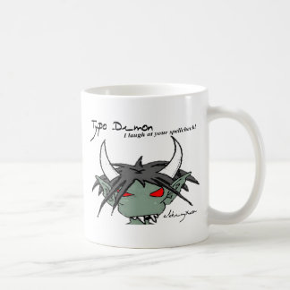 Typo Demon Mug: Spellcheck Coffee Mug